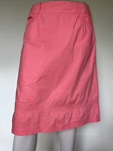 SPORTSCRAFT Peach Pink Coral Straight Cotton Skirt sz 12