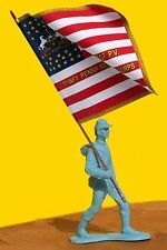 MARX TOY SOLDIER 54mm(1/32) - CIvil War with HAND MADE Flag of YOUR CHOICE NEW