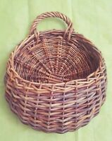 Large Hanging Wicker Wall Planter Pocket Holder Basket