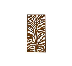 Decorative Garden Screen | COR TEN | ZEBRA |1200 x 600 x 1.6mm