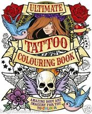 Ultimate Tattoo Adult Colouring Book Creative Art Therapy Relaxing Gift Skulls