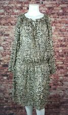 Ralph Lauren Animal Print Sheer Dress Black Beige Brown Size  22W