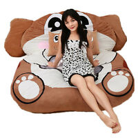 Giant Stuffed Animal Double Bed Soft Plush Beanbag Mattress Tatami Home Bed Sofa