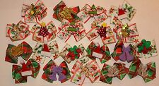 20 Decorated Christmas Dog Bows Top Quality Dog Grooming Bows Handmade USA NEW