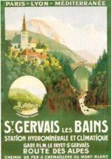 FRENCH VINTAGE POSTER 50x70cm France LANDSCAPE SAINT GERVAIS LES BAINS CITY