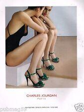 Publicité advertising 2011 Haute Couture Chaussures Charles Jourdan