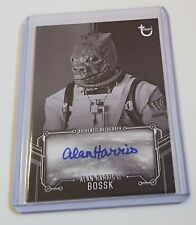 2019 Topps Star Wars Empire Strikes Back Black & White Autograph  A Harris Bossk