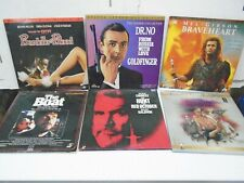 Man Cave Laserdisc Lot of 6 Action Movies 007 James Bond Braveheart The Boat