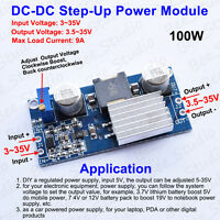 100W DC-DC Boost Step up Voltage Regulator Power Module 3~35V to 5V 12V 24V 9A