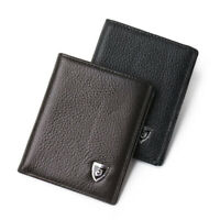 Fashion Men Cowhide Leather Purse Ultra-thin Wallet Mini Money Card Holder Gifts