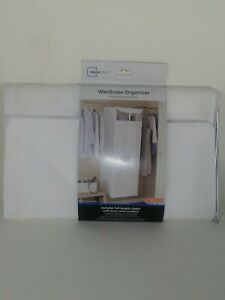 Fabric Wardrobe Portable Organizer with full length zipper with a View Window