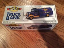 BLUE SUNOCO VEHICLE FUEL TRUCK BANK - 1993 LIMITED EDITION (JMT REPLICAS)