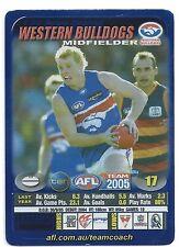 2005 Teamcoach Blue Star Premium Prize Card (89) Adam COONEY Western Bulldogs