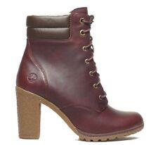 Timberland Women's Tillston High Heel Burgundy 6 inch Leather Boots A1H1J