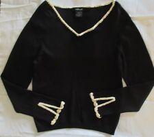 WILLI SMITH Women's Black Long Sleeve Shirt Size Large