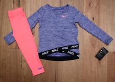 Nike Girl Long Sleeve Shirt and Leggings Set~Pink, Purple, Black & White