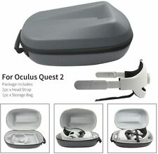 More details for adjustable head strap & travel storage case for facebook vr oculus quest 2 ii