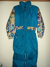 Vtg 90s JUPA Sports One Piece SKI SUIT Snow Bib Snowsuit w/Hood Youth size 14