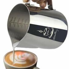 Bricco da latte, Lattiera per cappuccino in Acciaio Inox da 600ml, 2 misurazioni