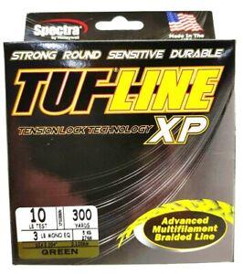 BRAID TUF-LINE XP 10lb green 300yards Spectra advanced multifilament line USA