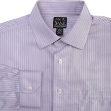 Jos A Bank Non Iron Spread Collar Lavender Purple Dress Shirt Mens 16-35 Slim