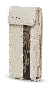 Belkin Canvas Flip Case for Ipod Nano 1G 2G 1st 2nd Gen TAUPE/BROWN F8Z128-bt