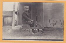 Real Photo Postcard RPC - Boy in Pedal Car Outdoors