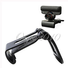 TV Clip Mount Mounting Holder Stand For Sony PS3 Move Eye Camera Black Plastic