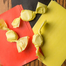 """Wax Candy Wrappers -for caramels & taffy -  Yellow 4""""x5"""", 1 lb. package"""
