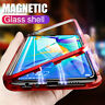 For Huawei P30 Pro P20 Lite Mate 20 Magnetic Adsorption Metal Glass Case Cover