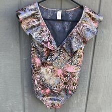 NWOT Victoria Secret Floral Collar One Piece Thong Teddy Bodysuit Size Small New