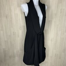 Mais il est ou le Soleil • Sleeveless Black Cowl Lagenlook Tunic Dress • Size 12