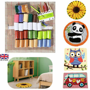 Latch Hook Rug Making kits for Adults Beginners Embroidery Animals Cushion Cover