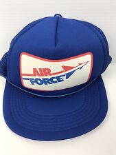 Vintage UNITED STATES AIR FORCE Blue Hat Cap Adjustable Foam Mesh Box