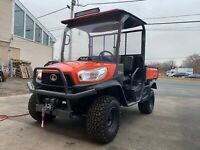 KUBOTA RTV-X900C  4X4,KUBOTA, DIESEL, HYDRAULIC DUMP, ROOF WINDSHIELD, NEW WINCH