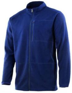Huk Fishing Mens Channel Alaska Fleece Full Zip Jacket -3 Zip Pockets -Size XL