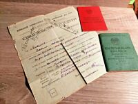 Soviet Documents Per One Person Military Ticket Driver License Certificate USSR