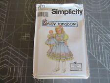 "Simplicity FF Uncut Sewing Pattern #7477 Dress Sz 5-8 & 18"" Doll Daisy Kingdom"