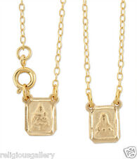 Gold Plated Scapular, Our Lady of Mt. Carmel with Heart of Jesus Stamped Image