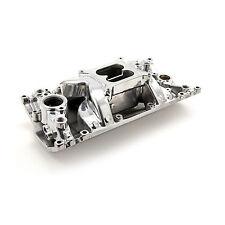 SBC Vortec Polished Aluminum Intake Dual Plane 327,350,383 Open Plenum Design