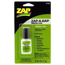 Zap-A-Gap CA+ Super Glue Medium Viscosity Brush-On (1/4 oz / 7g)