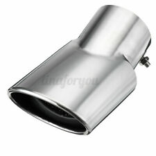2x Exhaust Muffler Tail Pipe Oval Tip Stainless Steel Chrom For Range  I