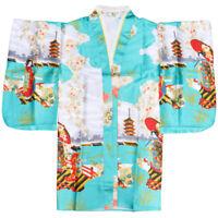 Ancient Japanese kimono Yukata Women Gown Geisha Dress National Costume One Size