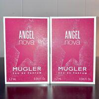 2x Mugler Angel Nova Eau de Parfum Sample Spray .04oz, 1.2 ml Each