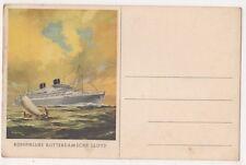Koninklijke Rotterdamsche Lloyd Shipping Art Postcard B634