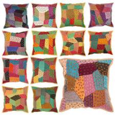 "Patchwork Square Decorative Cushions & Pillows 17x17"" Size"