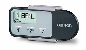 Omron HJ-321 Tri-Axis Pedometer, Black | Steps | Calories | Time | 7 Day Memory