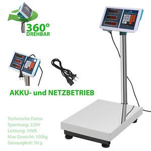 Digitale Industriewaage Plattformwaage Paketwaage Ladenwaage Marktwaage 100 kg