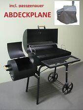 WP032 PROFI XL Smoker mit WETTERPLANE BBQ GRILLWAGEN  bis 1,5 mm Stahl ca.32kg