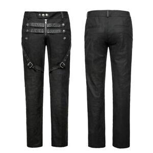 Gothic Military Hose Black Steampunk Uniform Pants von Punk Rave